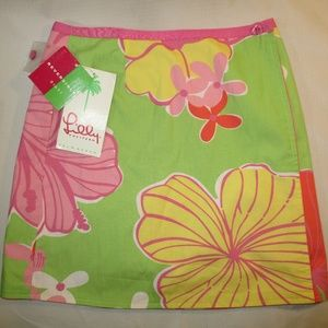 NWT Lilly Pulitzer Becca Floral Reversible Skirt 7